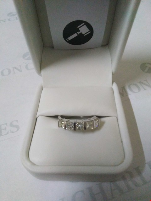 Lot 36 18CT WHITE GOLD HALF ETERNITY RING SET WITH PRINCESS CUT DIAMONDS WEIGHING +1.61CT RRP £4500.00