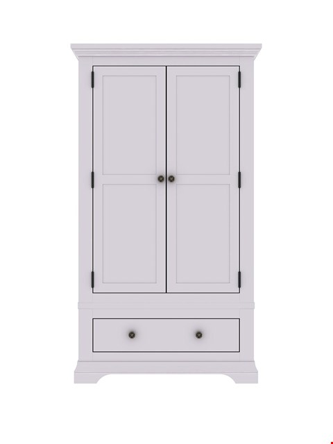 Lot 1178 BRAND NEW BOXED NORMANDY 2-DOOR 1-DRAWER GREY WARDROBE (2 BOXES)  RRP £499.00