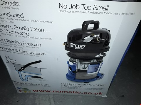 Lot 12739 HENRY 1060W WASH WET VACUUM