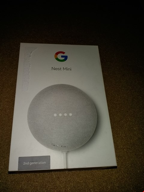 Lot 8163 GOOGLE NEST MINI 2ND GENERATION