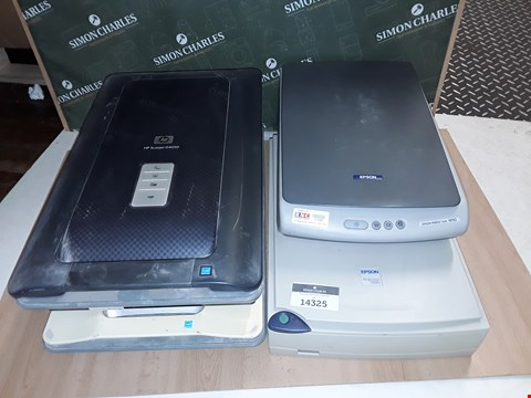 Lot 14325 LOT OF 4 ASSORTED SCANNERS TO INCLUDE EPSON PERFECTION 1650 AND HP SCANNER G4050