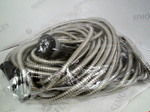 Lot 412 STAINLESS STEEL HOSE 75ft WITH SPRAYHEAD