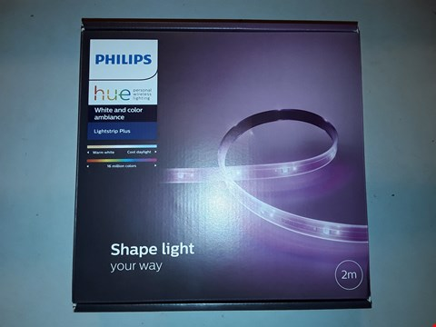 Lot 1079 PHILIPS HUE LIGHTSTRIP PLUS WHITE AND COLOUR AMBIANCE SMART LED KIT