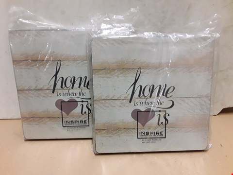 Lot 8011 LOT OF 2 SETS OF 4 INSPIRE LOVE PLACEMATS - 8 MATT'S IN TOTAL