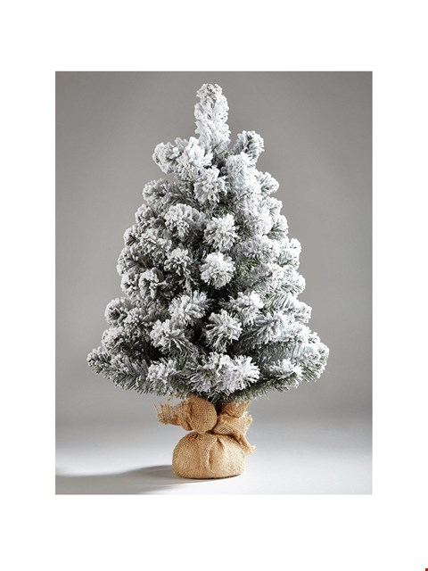 Lot 1042 BRAND NEW BOX PRE-LIT FROSTED TABLE TOP TREE (1 BOX) RRP £24.99