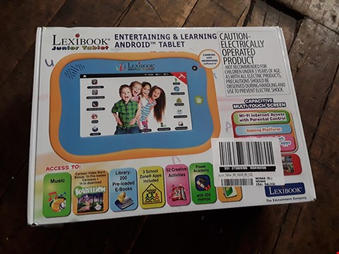 Lot 1299 LEXIBOOK JUNIOR TABLET - ENTERTAINING & LEARNING ANDROID TABLET  RRP £126.99