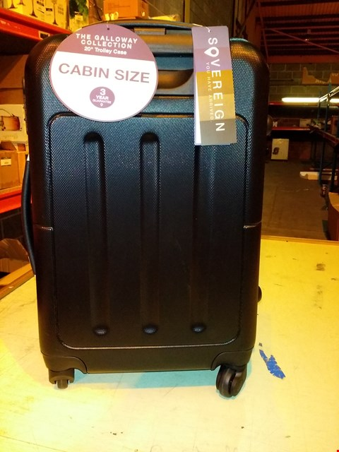 "Lot 6073 SOVEREIGN GALLOWAY 33 LITRES 20"" CABIN SIZE TROLLY CASE - BLACK"