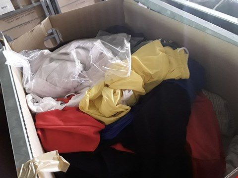 Lot 226 CAGE OF UNPROCESSED ASSORTED ADULT DESIGNER CLOTHING. (CAGE NOT INCLUDED)