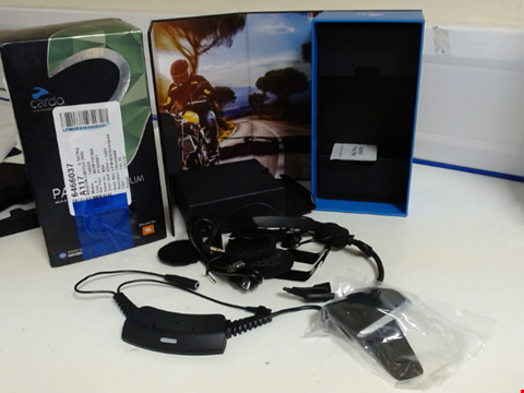 Lot 15226 CARDO PTS00001 PACKTALK SLIM MOTORCYCLE COMMUNICATION AND ENTERTAINMENT SYSTEM