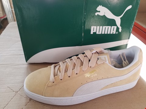 Lot 7663 BOXED PUMA PEBBLE SUEDE CLASSIC SIZE 8