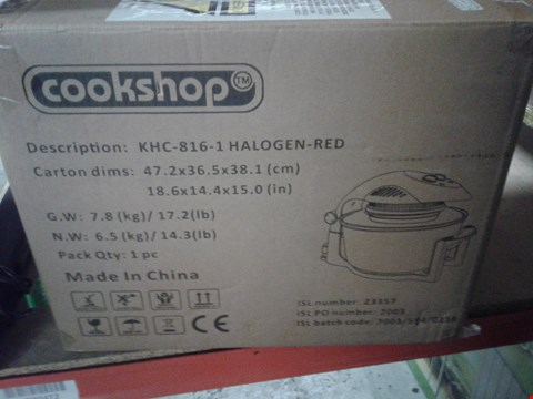 Lot 763 COOKSHOP 17L HALOGEN OVEN