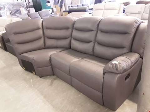 Lot 33 TWO DESIGNER GREY LEATHER ROTHBURY MANUAL RECLINING SECTIONS