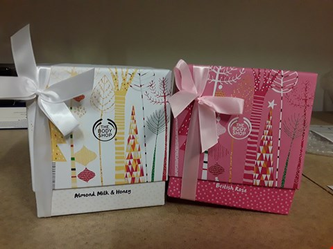 Lot 2049 LOT OF 2 BODY SHOP GIFT SETS TO INCLUDE BRITISH ROSE AND ALMOND MILK & HONEY