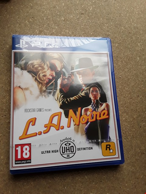 Lot 7666 L.A NOIRE PLAYSTATION 4 GAME