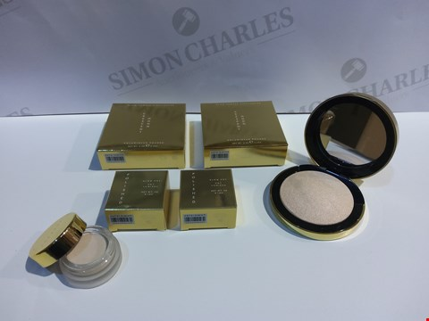 Lot 12194 BOX OF 44 COSMETIC ITEMS TO INCLUDE: CRESCENT MOON GLOW POWDER HIGHLIGHTERS 0.2OZ, POLISHED GLOW POT 0.1OZ