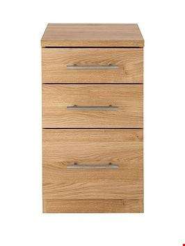 Lot 165 BOXED BRAND NEW PRAGUE WALNUT-EFFECT GRADUATED BEDSIDE CABINET (1 BOX) RRP £369