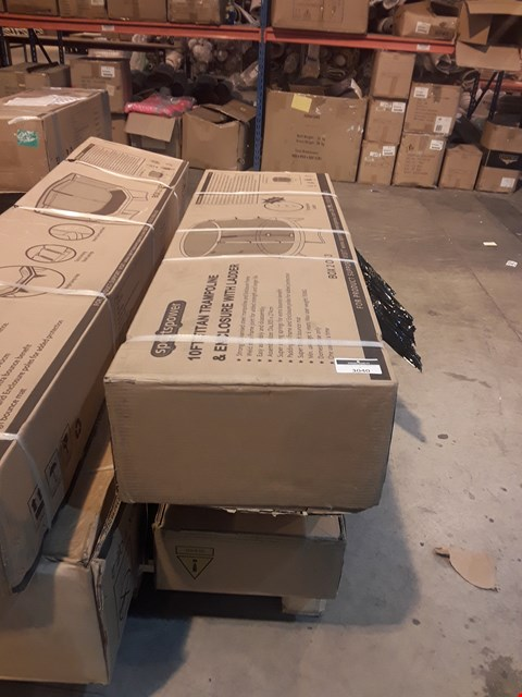 Lot 3040 THREE BOXES OF TRAMPOLINE PARTS