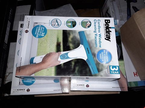 Lot 18 3 BOXED BELDRAY CORDLESS WINDOW CLEANING VACUUMS BEL0749