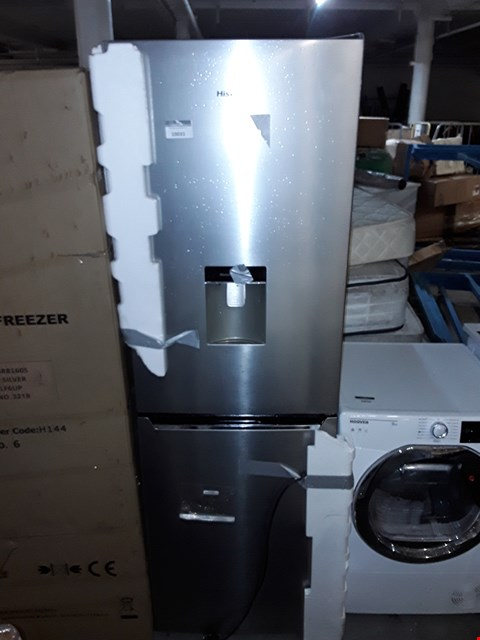 Lot 10033 HISENSE RB381N4WC1 FROST-FREE FRIDGE FREEZER WITH WATER DISPENSER - STAINLESS STEEL LOOK