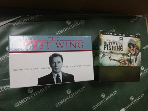 Lot 12012 THE WEST WING COMPLETE SEASONS 1-6 THE BARTLET YEARS AND A MATT HAYES ULTIMATE FISHING BOXSET