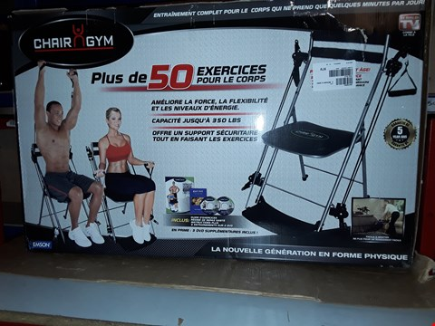 Lot 939 BOXED CHAIR GYM TOTAL BODY EXERCISE MACHINE BLACK