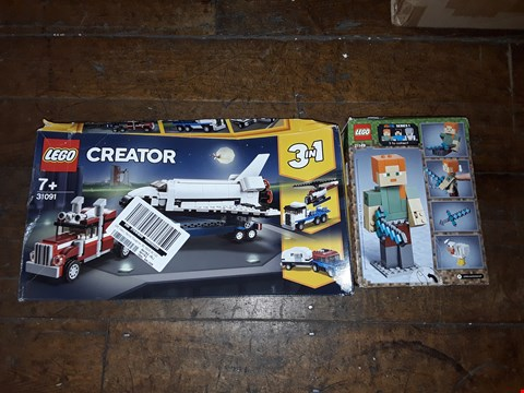 Lot 2365 LOT OF 2 GRADE 1 LEGO ITEMS TO INCLUDE LEGO MINECRAFT FIGURINE AND LEGO SHUTTLE TRANSPORTER RRP £49
