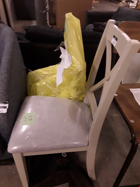 Lot 2038 TWO GREY DINING CHAIRS