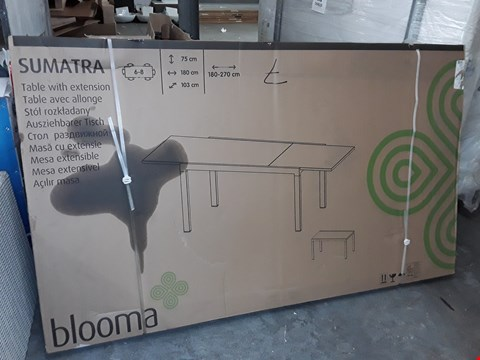 Lot 431 BLOOMA SUMATRA 6-8 SEATER EXTENDING OUTDOOR DINING TABLE RRP £270