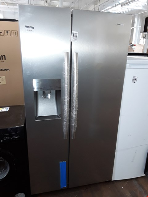 Lot 11024 HISENSE TOTAL NO FROST AMERICAN FRIDGE FREEZER SSL WITH WATER & ICE DISPENSER
