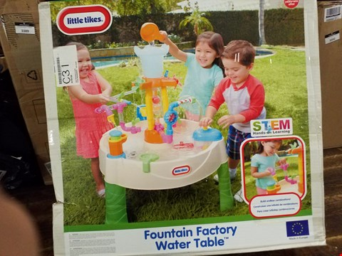 Lot 3382 BOXED LITTLE TIKES FOUNTAIN FACTORY WATER TABLE RRP £81.99