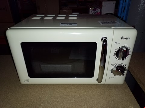 Lot 768 SWAN MANUAL MICROWAVE OVEN SM22080C CREAM RRP £170