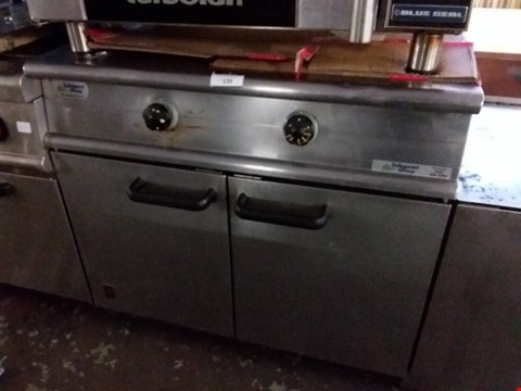 Lot 41 FALCON COMMERCIAL STAINLESS STEEL GRIDDLE WITH CABINET