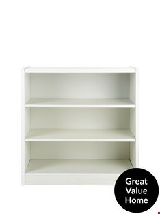 Lot 100 BOXED METRO SMALL WIDE BOOKCASE  RRP £37
