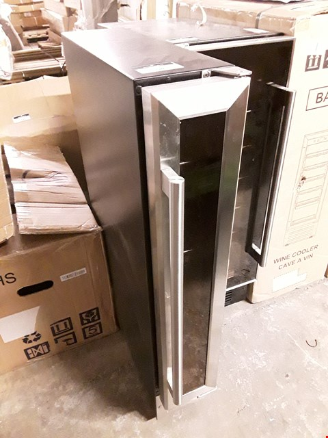 Lot 54 SLIM PROFILE WINE COOLER IN BLACK AND STAINLESS STEEL