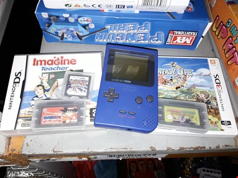 Lot 2129 LOT OF 6 NINTENDO ITEMS TO INCLUDE GAME BOY POCKET WITH TETRIS, IMAGINE TEACHER DS GAME AND POKEMON PLATINUM