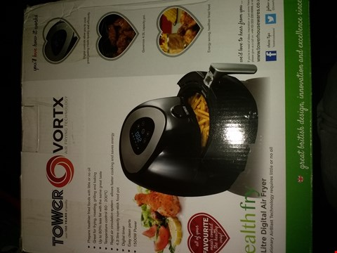 Lot 2206 TOWER T17024 DIGITAL AIR FRYER WITH LCD DISPLAY, 1500 W, 4.3 LITRE, BLACK