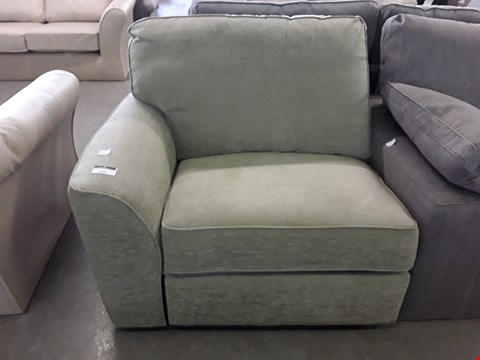 Lot 61 GREEN FABRIC POWER RECLINING SECTION