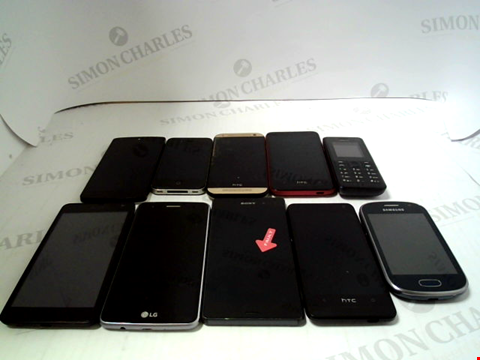 Lot 667 LOT OF APPROXIMATLEY 10 ASSORTED MOBILE PHONES AND SMARTPHONES ETC