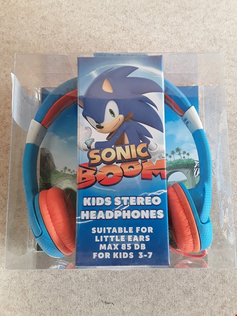 Lot 124 BRAND NEW BOXED SONIC BOOM KIDS STEREO HEADPHONES