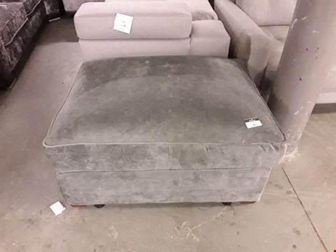 Lot 362 DESIGNER GREY FABRIC LARGE RECTANGULAR FOOTSTOOL