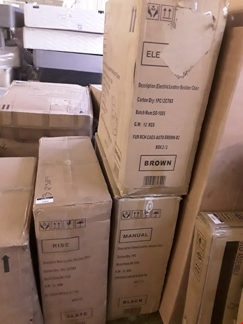 Lot 2082 LOT OF 3 BOXED ASSORTED RECLINING ARMCHAIR BACKS