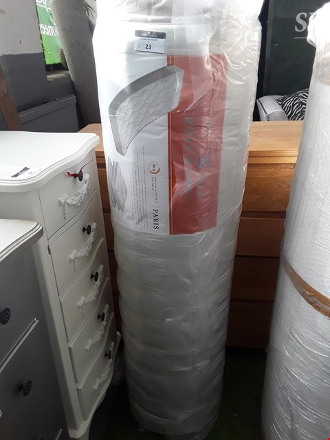 Lot 1057 DESIGNER BAGGED AND ROLLED PARIS DOUBLE MATTRESS