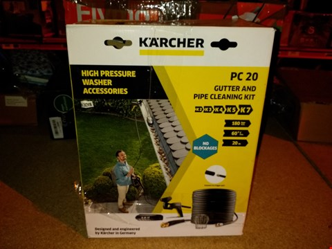 Lot 1437 KARCHER PC 20 GUTTER AND PIPE CLEANING KIT