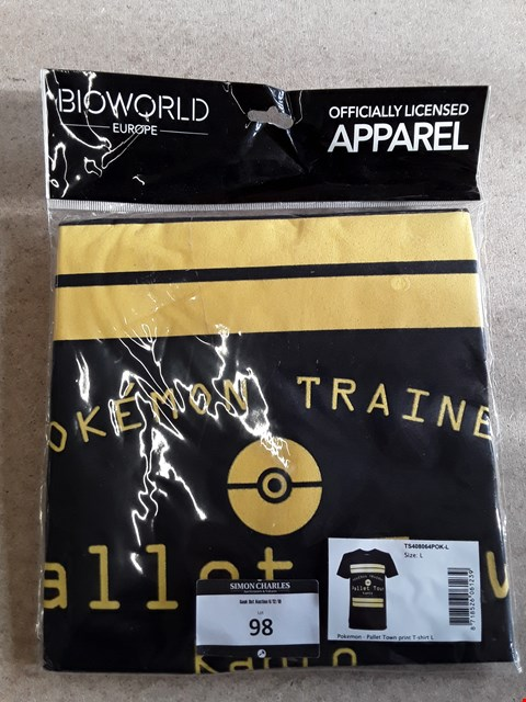 Lot 98 BRAND NEW POKEMON OFFICIALLY LICENSED T-SHIRT UNISEX L