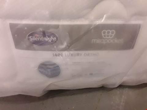 Lot 167 DESIGNER BAGGED 135CM SILENTNIGHT MIRAPOCKET 1400 LUXURY ORTHO MATTRESS