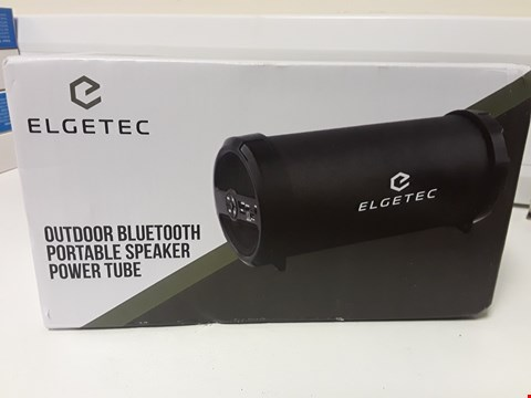 Lot 4678 BOXED ELGETEC OUTDOOR BLUETOOTH PORTABLE SPEAKER POWER TUBE