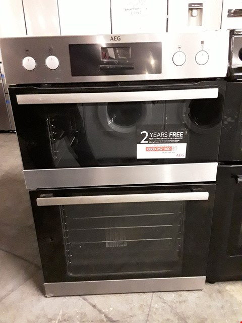 Lot 55 AEG DEB331010M BUILT-IN MULTIFUNCTION DOUBLE OVEN, STAINLESS STEEL RRP £385