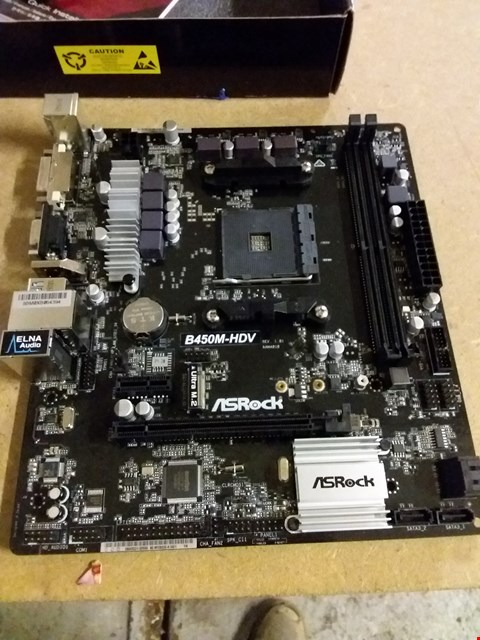 Lot 9 ASROCK B450M-HDV MOTHERBOARD
