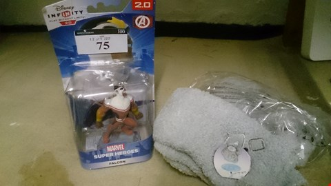 Lot 75 THREE ITEMS, TWO PAIR ME TO YOU SOCKS & DISNEY INFINITY MARVEL FIGURE FALCON
