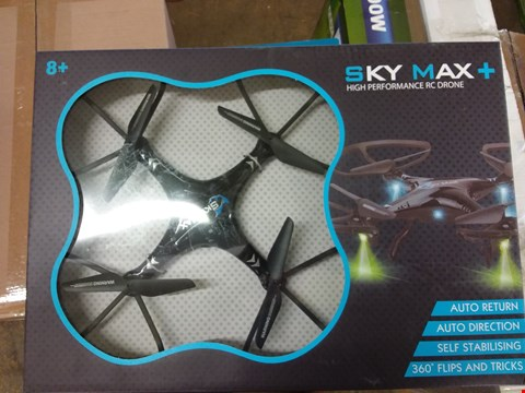Lot 2002 A LOT OF 3 ITEMS TO INCLUDE A BOXED SKY MAX PLUS DRONE